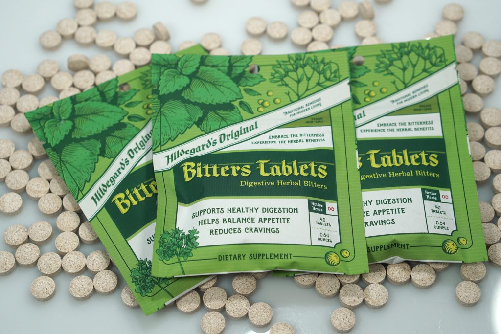 Three packs of Hildegard's Original Bitters Tablets