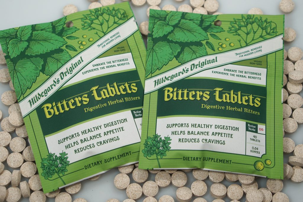 Two packs of Hildegard's Original Bitters Tablets